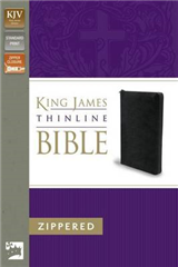 King James Version Thinline Zippered Collection Bible