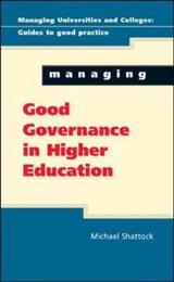 Managing Good Governance in Higher Education