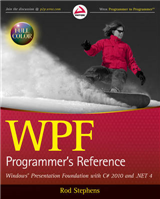 WPF Programmer\'s Reference: Windows Presentation Foundation with C# 2010 and .NET 4