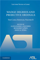 Wadge Degrees and Projective Ordinals: The Cabal Seminar, Volume II
