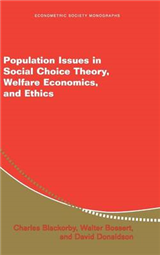Population Issues in Social Choice Theory, Welfare Economics