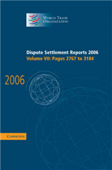 Dispute Settlement Reports 2006: Volume 7, Pages 2767-3184