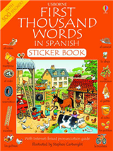 First 1000 Words in Spanish Sticker Book