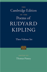 The Cambridge Edition of the Poems of Rudyard Kipling 3 Volume Hardback Set
