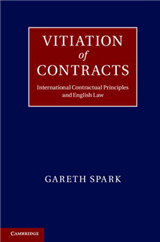 Vitiation of Contracts: International Contractual Principles and English Law
