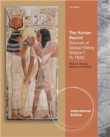 The Human Record: Sources of Global History, Volume I: To 1500, International Edition