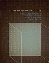 Basic College Mathematics with Early Integers: Pearson New International Edition