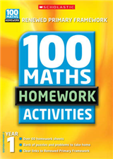 100 Maths Homework Activities: Year 1