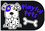 Black and White Playful Pets: Chunky Board Book