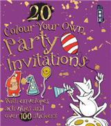 Colour Your Own Party Invitations