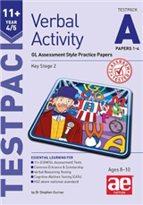 11+ Verbal Activity Year 4/5 Testpack A Papers 1-4