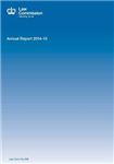 The Law Commission Annual Report: 49th, 2014-15, (Law Commission Report #359)