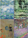 Set of Four Magnetic Notepads: Monet