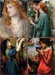 Set of Four Magnetic Notepads: Pre-Raphaelites