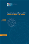 Dispute Settlement Reports 2011: Volume 8, Pages 4287-4808