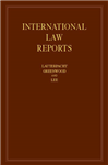 International Law Reports: Volume 160