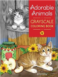 Adorable Animals GrayScale Coloring Book