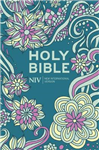 NIV Pocket Floral Hardback Bible