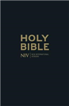 NIV Thinline Black Leather Bible