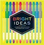 Bright Ideas Neon and Glitter Colored Gel Pens