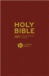NIV Larger Print Burgundy Hardback Bible