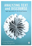 Analyzing Text and Discourse: Eight Approaches for the Social Sciences
