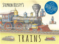 Stephen Biesty\'s Trains: Cased Board Book with Flaps