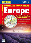 Philip\'s Complete Road Atlas Europe: 2013
