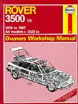 Rover 3500 V8 1976-87 Owner\'s Workshop Manual