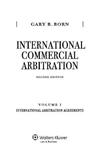 International Commercial Arbitration: Volume I: International Arbitration Agreements