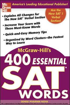 McGraw-Hill\'s 400 Essential SAT Words