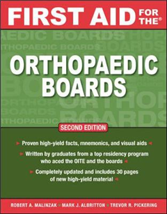 First Aid for the Orthopaedic Boards