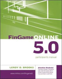 FinGame 5.0 Participant\'s Manual with Registration Code