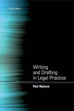 Writing and Drafting in Legal Practice