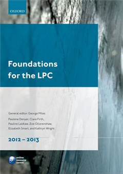 Foundations for the LPC: 2012-13