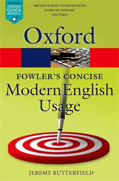 Fowler\'s Concise Dictionary of Modern English Usage