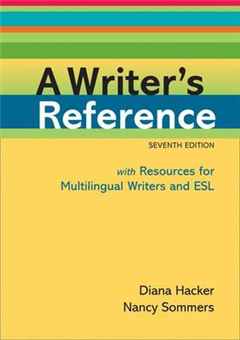 A Writer\'s Reference with Resources for Multilingual Writers and ESL