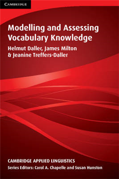 Cambridge Applied Linguistics: Modelling and Assessing Vocabulary Knowledge