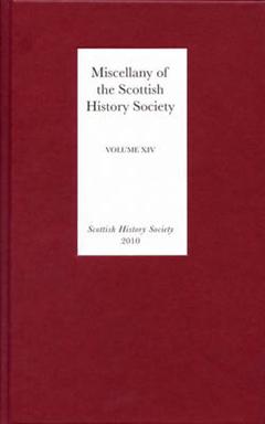 Miscellany of the Scottish History Society: Volume 14