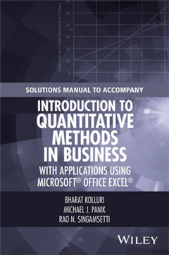 Solutions Manual to Accompany Introduction to Quantitative M