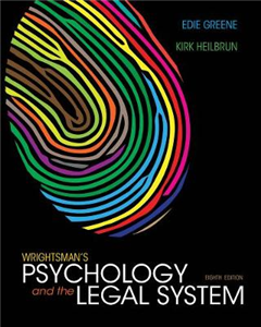 Wrightsman\'s Psychology and the Legal System, International Edition