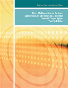 Finite Mathematics for Business, Economics, Life Sciences and Social Sciences: Pearson New International Edition