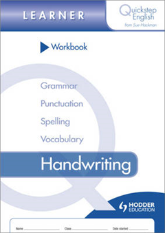 Quickstep English Workbook Handwriting Learner Stage