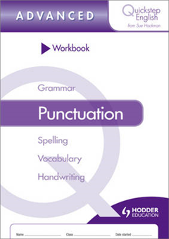 Quickstep English Workbook Punctuation Advanced Stage