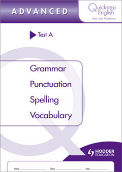 Quickstep English Test A Advanced Stage