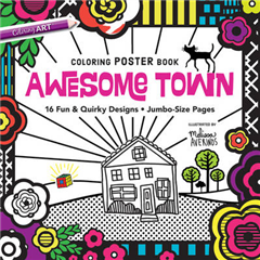Awesome Town Coloring Poster Book