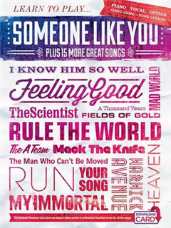 Learn to Play 'Someone Like You' Plus 15 More Great Songs (B