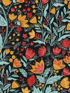 Folk Art Cloth Bound Notebook