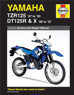 Yamaha TZR125 '87 to '93 and DT125R '88 to '07