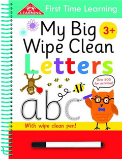 First Time Learning Wipe Clean-Letters: Spiral Bound